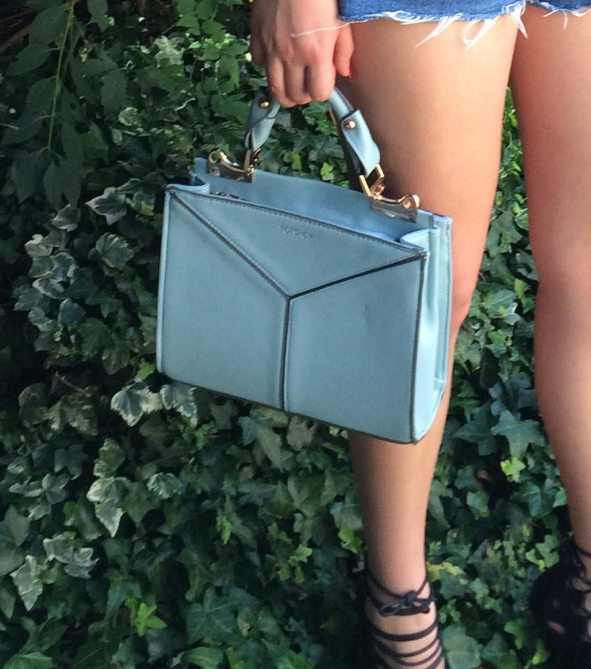 blue mini handbag, ootd, fashion, accessories