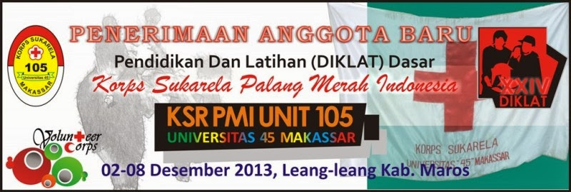 "KSR PMI UNIT 105 UNIVERSITAS ""45"" MAKASSAR"