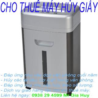 Cho thuê máy hủy giá tại Hồ Chí Minh