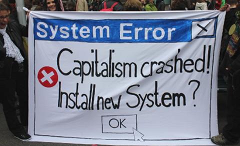 Capitalism crashed!