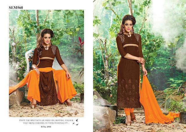 New Arrival Georgette Plazzo Style Salwar Kameez