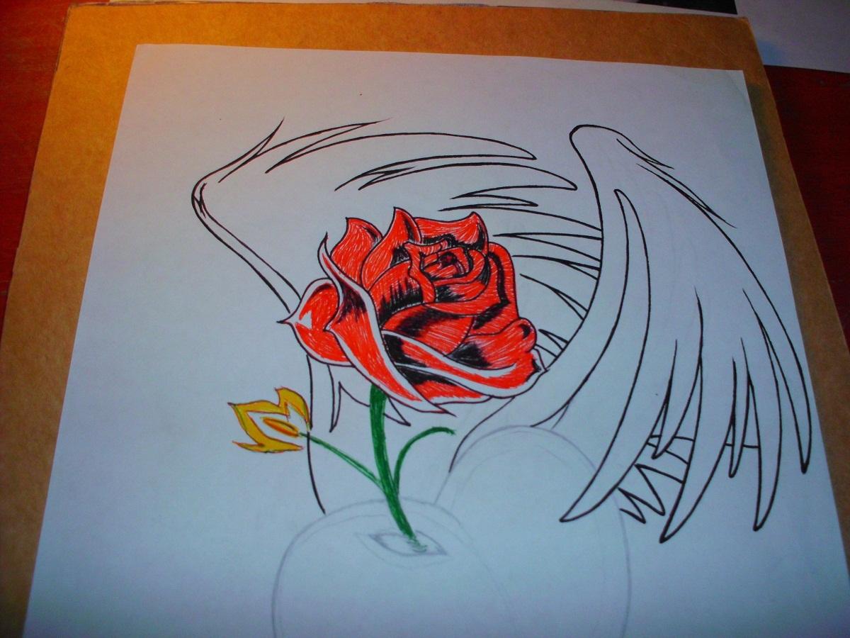 Imagenes De Corazones Y Rosas Para Dibujar Pintar  - Imagenes De Corazones Con Rosas Para Colorear