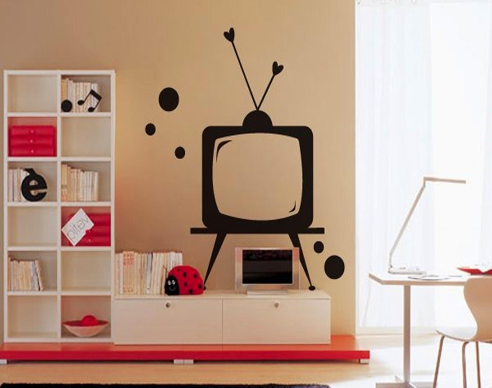Adesivo Quarto Jovem Redival Com -> Adesivo Decorativo Na Parede De Tv