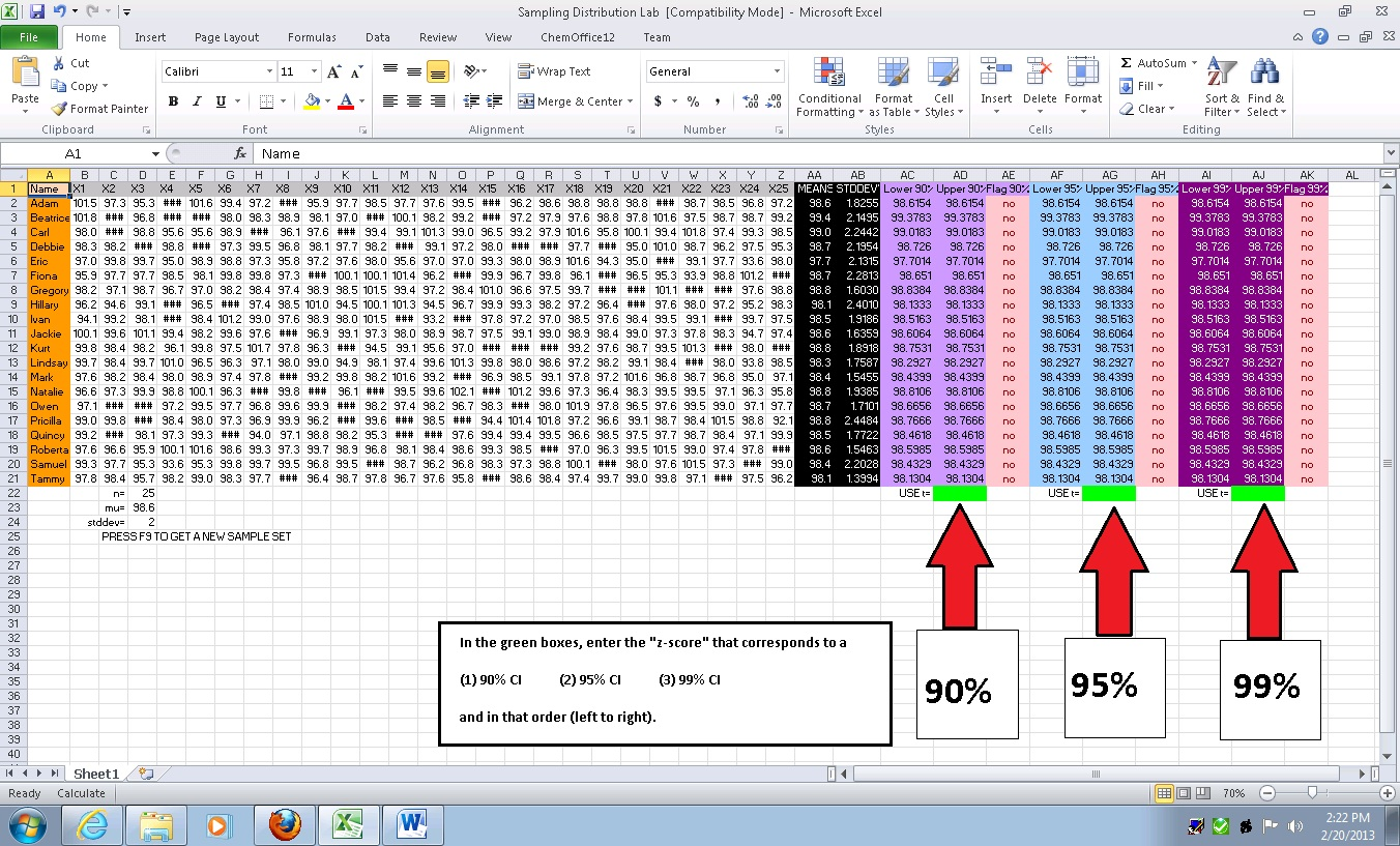 how to create a confidence interval in excel