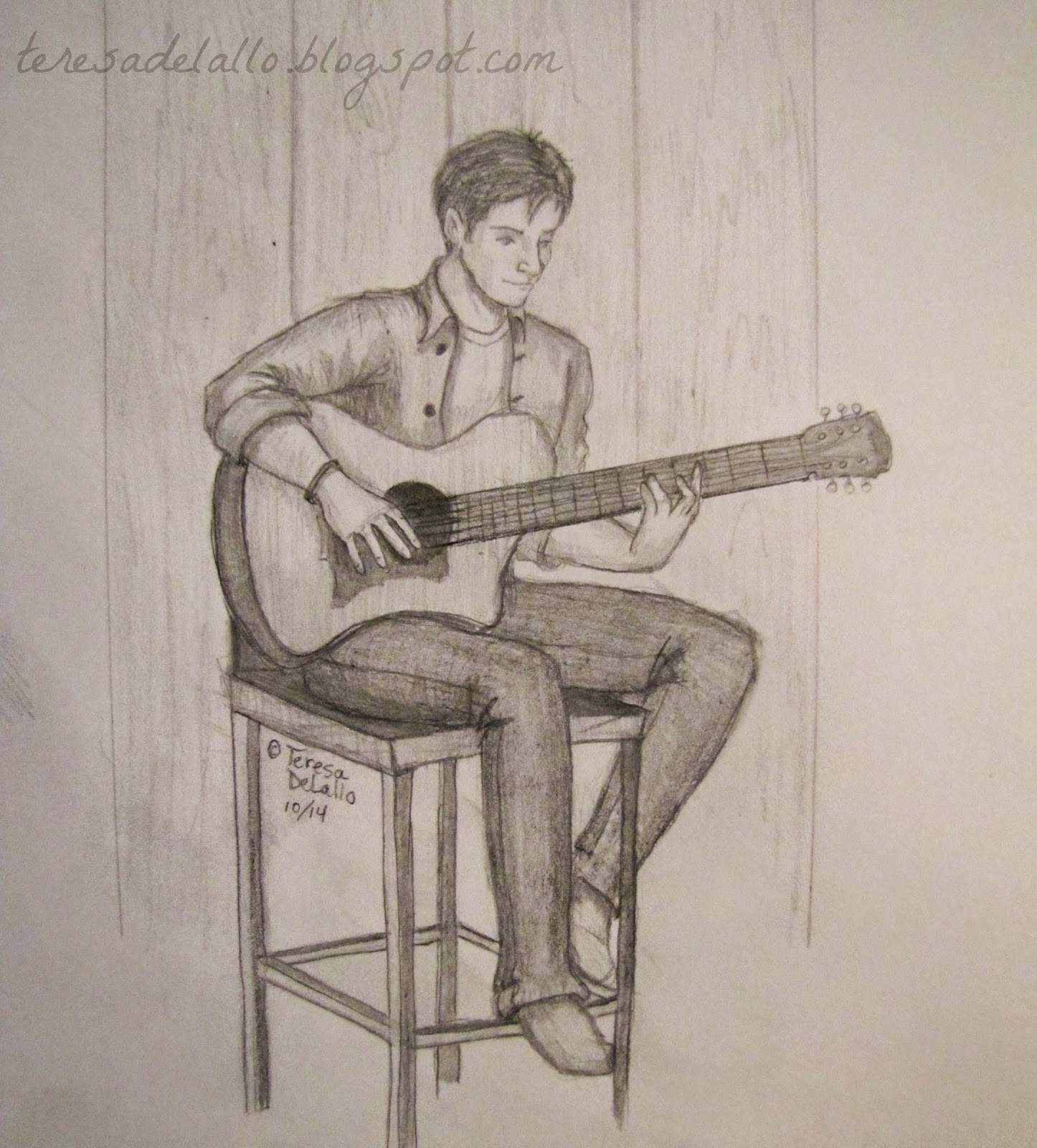 Guitarist Girl Drawing le Other Guitarist Whom i am