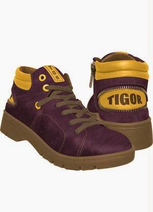 Calçado Abotinado infantil de menino Vermelho Tigor T. Tigre