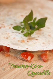 Rezept für Quesadilla mit Tomaten und Blauschimmelkäse