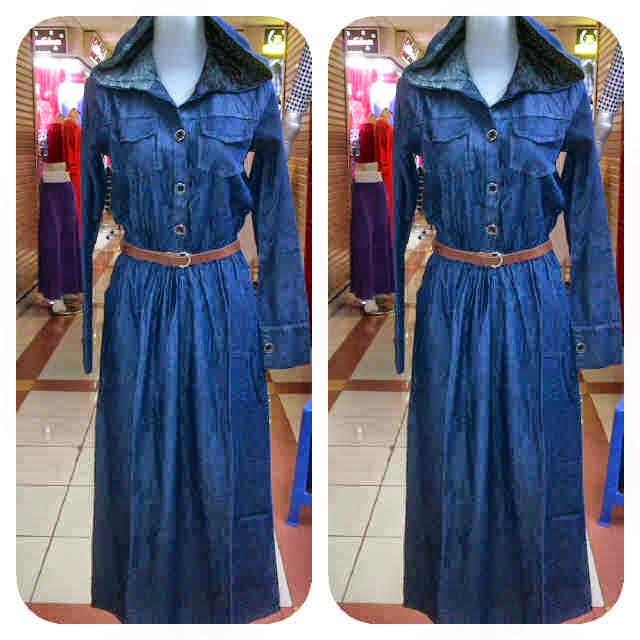 Baju Wanita Gamis Jeans 0928 Pakaian Wanita