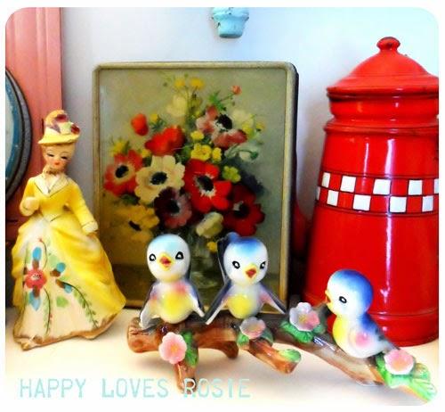 retro kitsch bluebird collectables