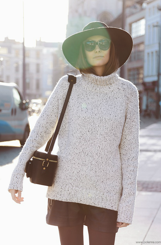 hat, shorts, sweater, fall, blogger, style, fashion