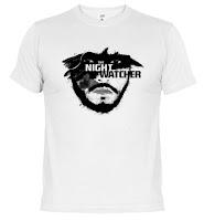 Camiseta Jon nieve Guardia de la noche - Juego de Tronos en los siete reinos