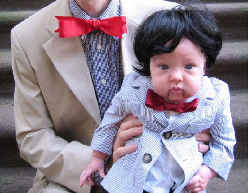 idea disfraz para un bebe y su padre en hallowen