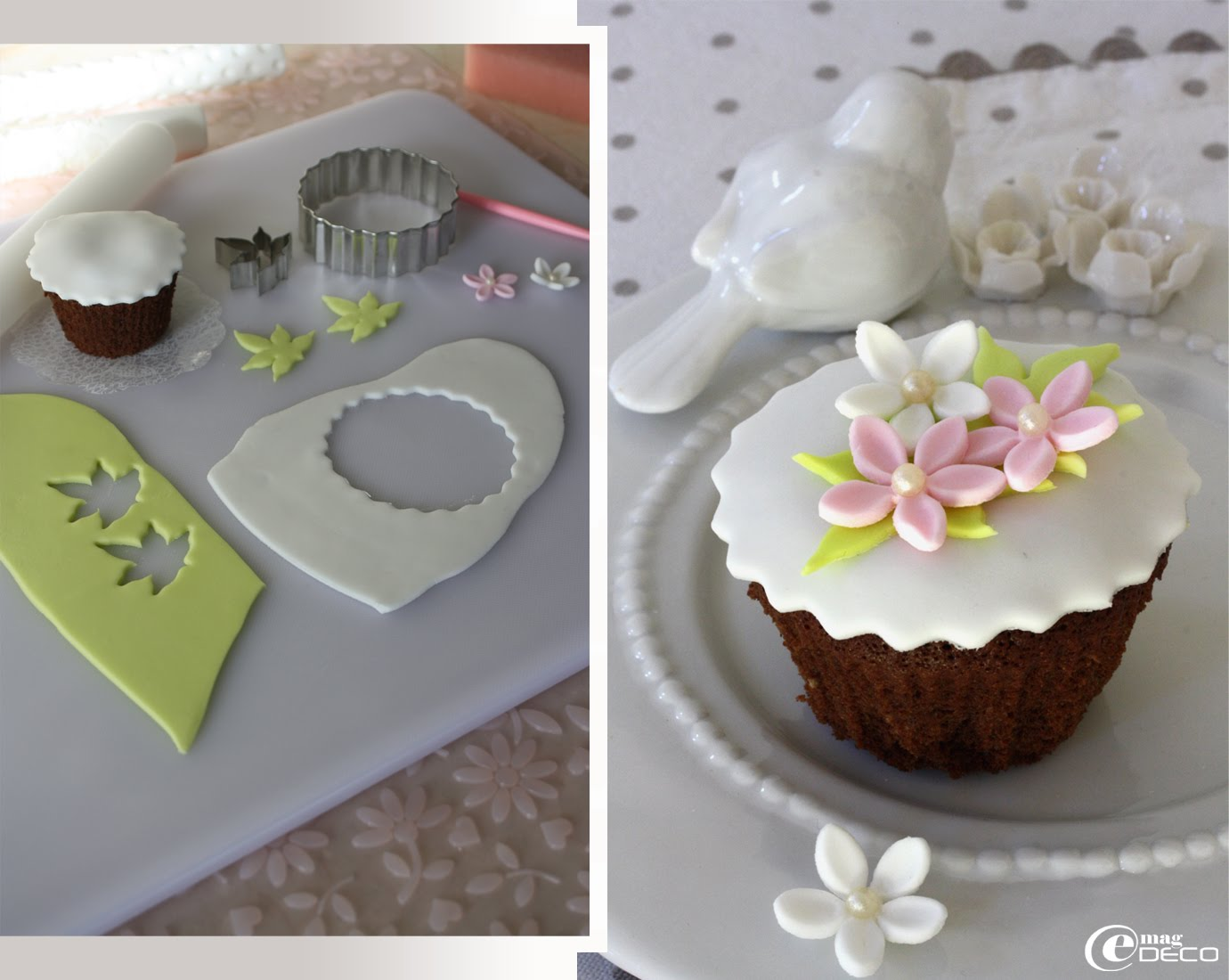 Les cupcakes de nina e magdeco magazine de d coration for Decoration pate a sucre