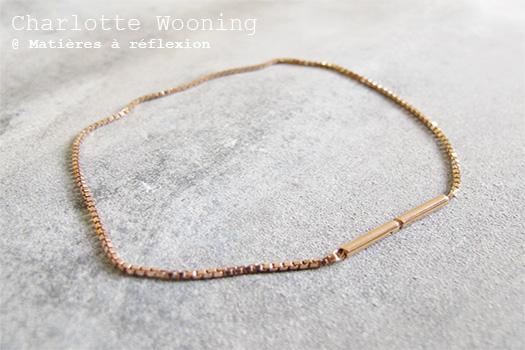 Bracelet chaînette Charlotte Wooning
