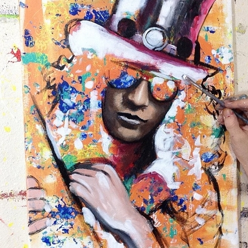 17-Slash-Guns-N-Roses-Jonathan-Harris-Celebrity-Paintings-Images-and-Videos-www-designstack-co