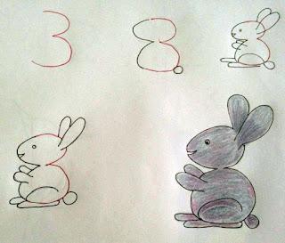 Как нарисовать животных из цифр