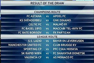 Play-off Liga Champions 2015-2016