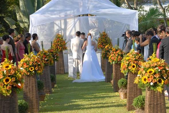 decoracao de casamento na igreja azul e amarelo:Decoração – Casamento Amarelo