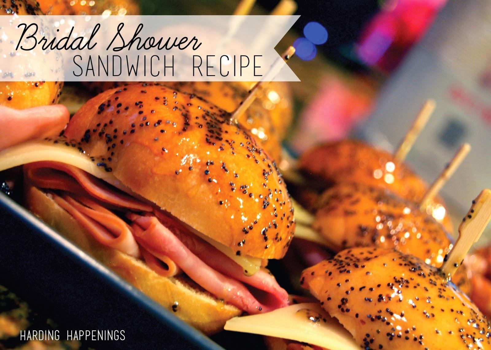 bridal shower sandwich recipe