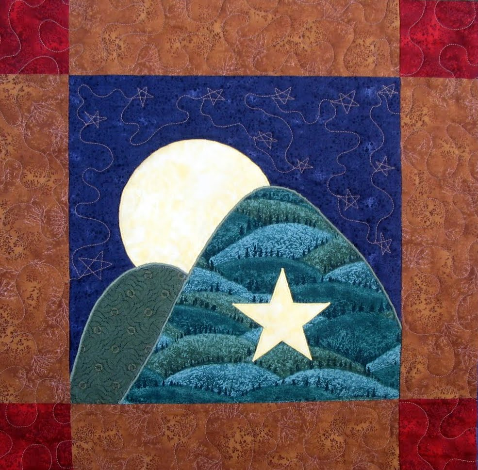 starwood quilter moon over the mountain quilt block and a song for