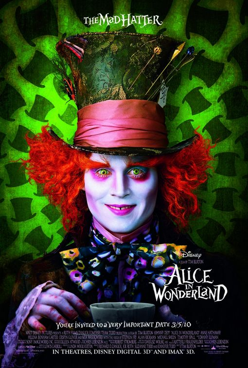 Mad Hatter Alice in Wonderland poster