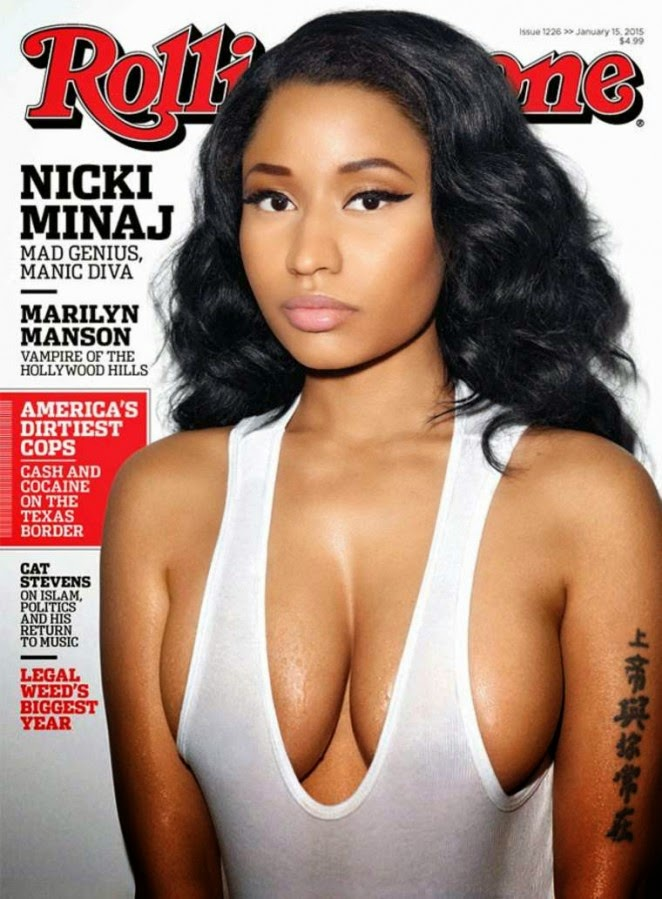Nicki Minaj bares curves for the Rolling Stone January 2015 issue