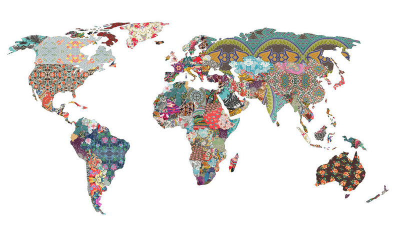 Inspiration Treasures Really Cool World Map Print