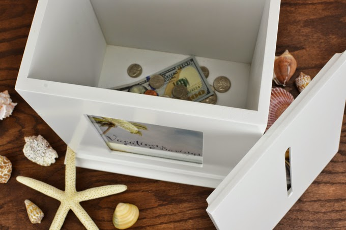 Creative Uses for Your Wedding Card Box - Vacation Savings Box with Free Printable