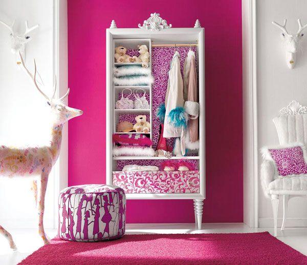 Desain Interior Rumah dan Kamar Tidur: Kamar tidur anak perempuan
