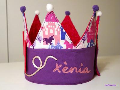 Corona d'aniversari per nens i nenes Enfilades