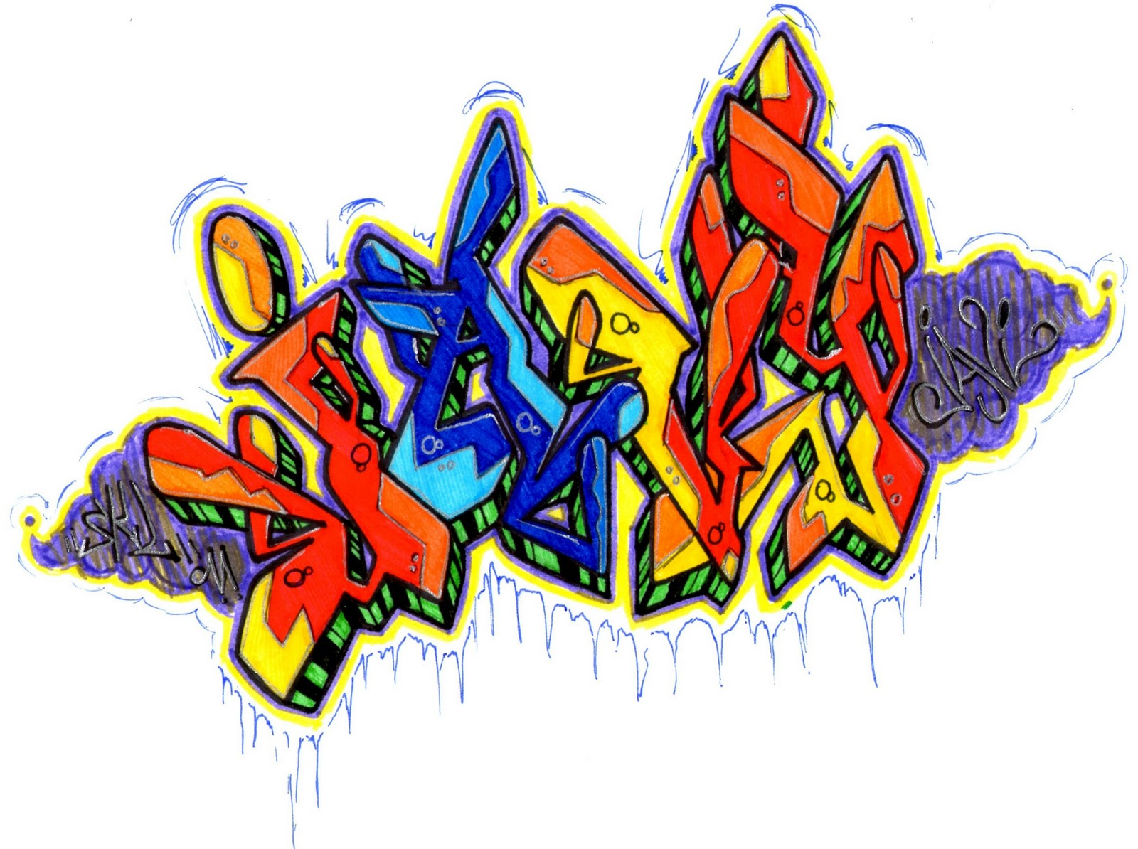 Chelpi Black Book: Bocetos de graffitis Javy