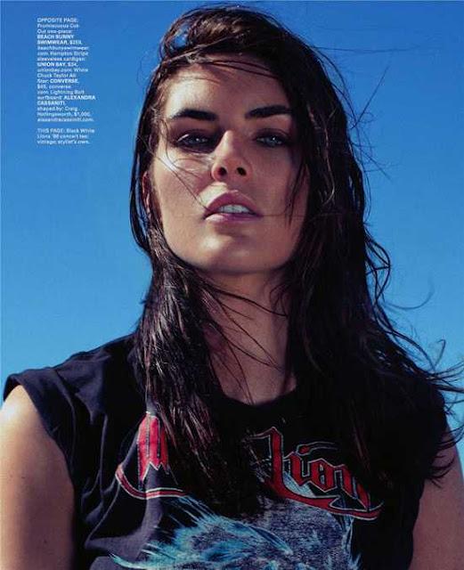 Super model Hilary Rhoda