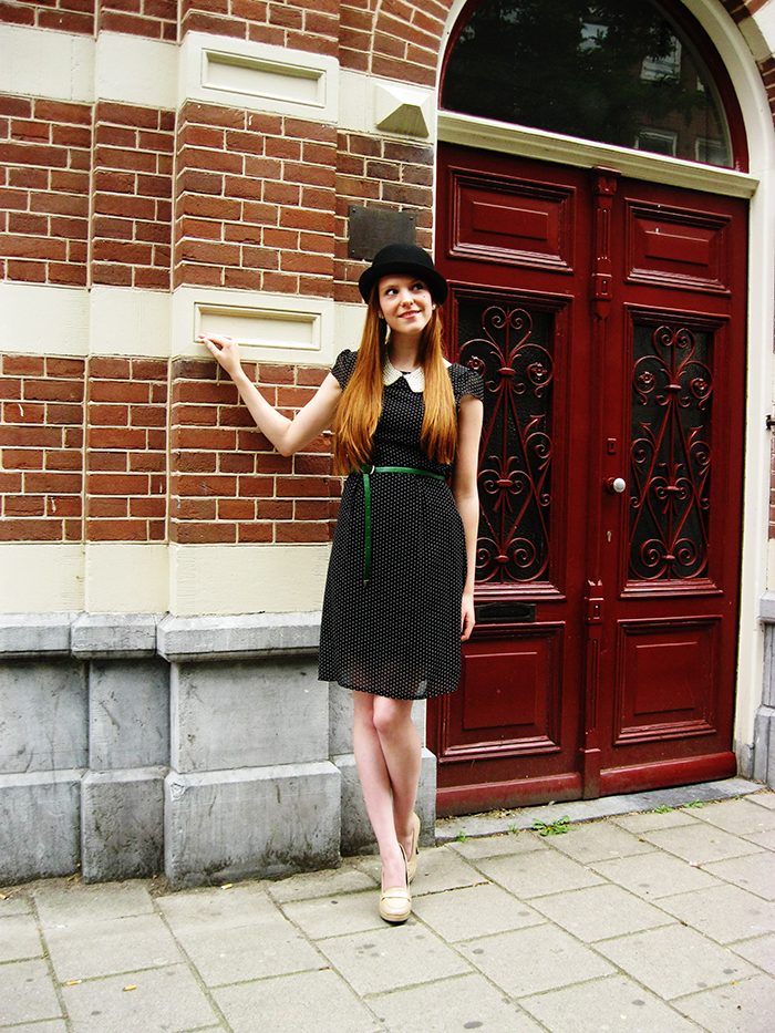 Personal style fashion blog outfit shoes preppy bowler hat bolhoed