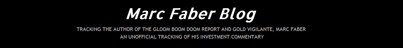Marc Faber Blog