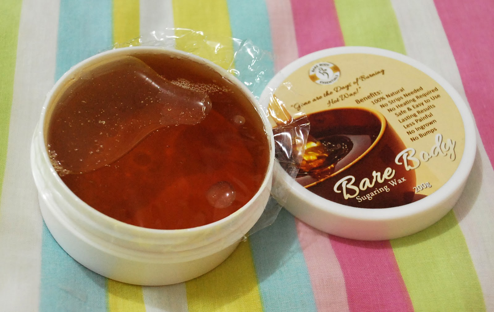 Peachy Pink Sisters: Review : Bare Body Sugaring Wax