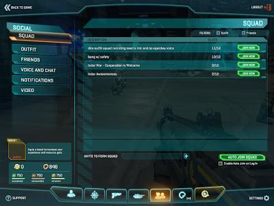 PlanetSide 2 - Squad List
