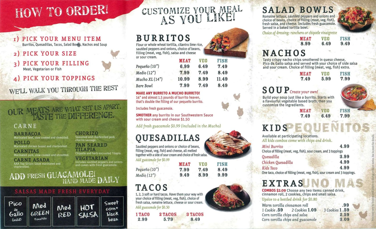 It is a picture of Unusual Printable Chipotle Menu