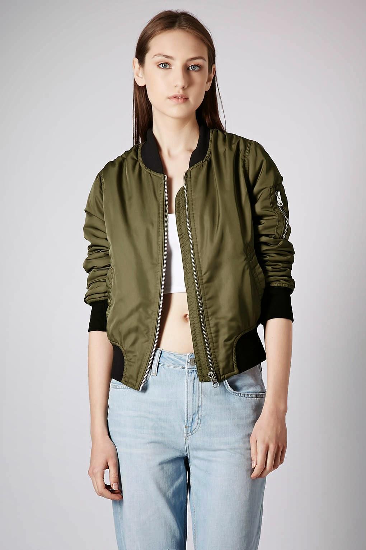 khaki bomber coat