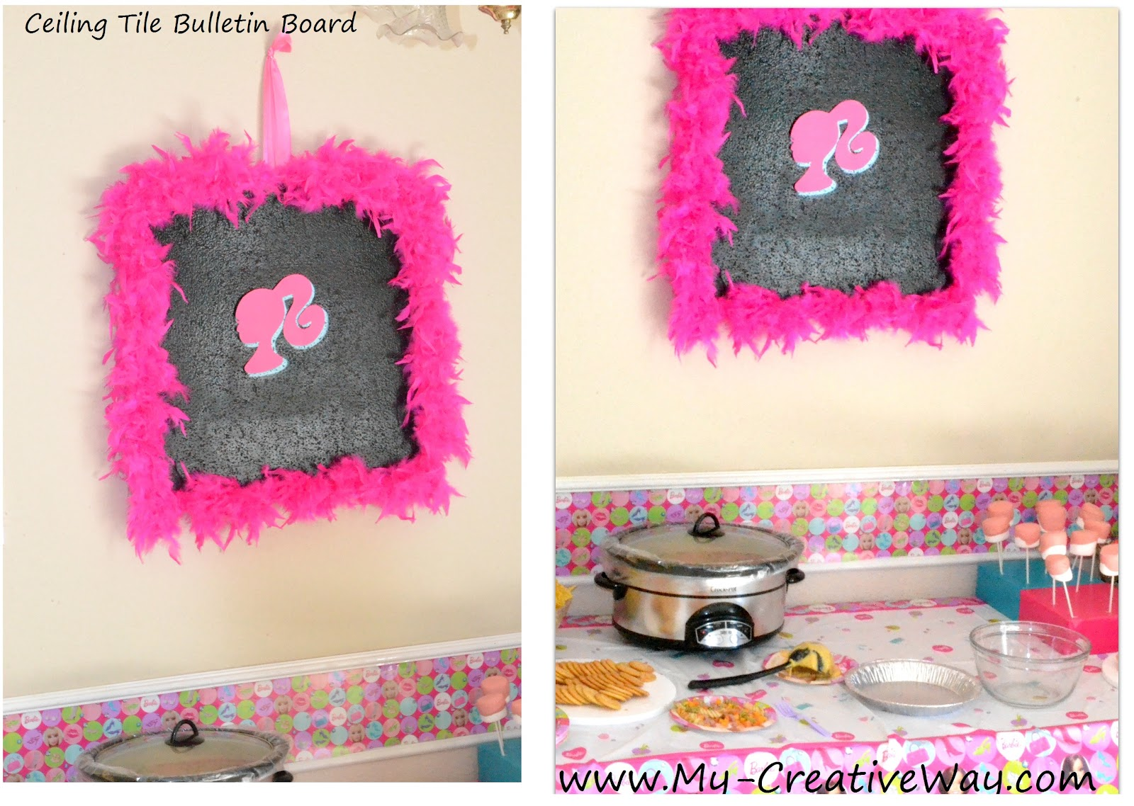 My creative way all dolled up barbie party barbie party for Decoration barbie