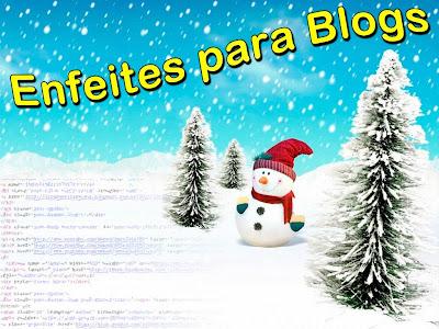Enfeites de Natal para Blogs: Efeito Neve Caindo