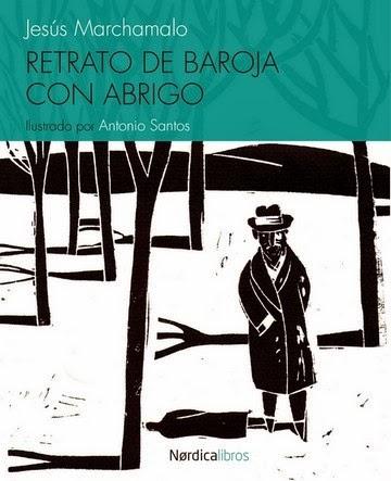 Retrato de Baroja con abrigo