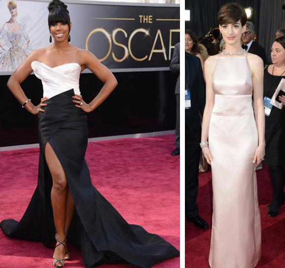 Kelly Rowland Oscars, Anne Hathaway Oscars, Oscars 2013