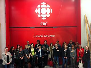 The SLA-TSG Tour Group at the CBC!