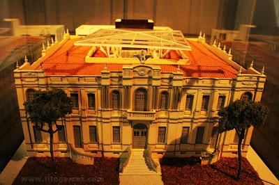 Maquete do prédio que abriga o Museu da Gente Sergipana, em Aracaju - Sergipe