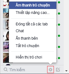 Âm thanh trò chuyện Facebook, tắt âm thanh chat FB