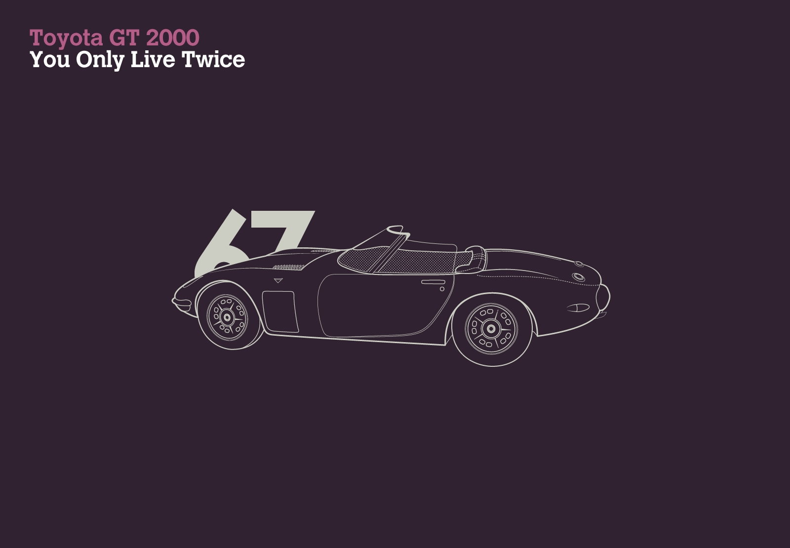 Toyota GT 2000 You Only Live Twice