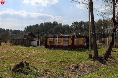 Деревня Понарка. Хата без крыши