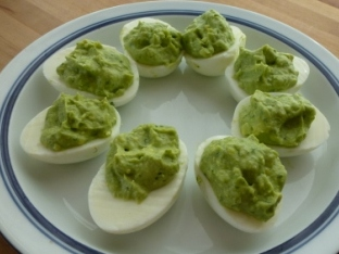 Please Eat Your Vegetables: Guacamole Deviled Eggs: Green Egg Fun