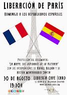 Homenaje a los republicanos españoles que liberaron París.