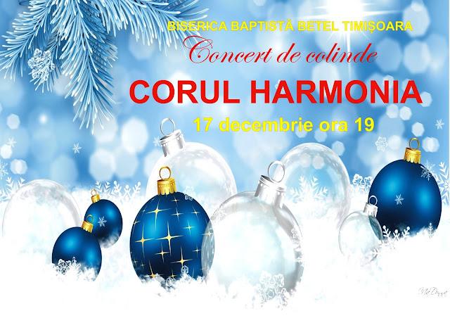 Concert de colinde cu Corul Harmonia la Betel Timisoara - 17 decembrie 2015